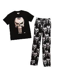 Mad Engine Punisher Logo & allover Print Adult Pajama Set