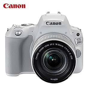 Canon 佳能 EOS 200D(18-55mm)单反 (官方标配, 白色(18-55mm))