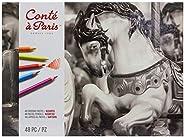 Conté à Paris 粉笔,48 种不同颜色