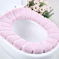 马桶垫 坐垫 加厚通用秋冬马桶垫 厕所坐便套 马桶座圈 马桶套 抗菌 易安装 坐厕垫子 (3件套)