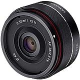 Samyang 三阳 SYIO35AF-E 35mm f / 2.8超紧凑型广角镜头,适用于索尼E卡口全画幅,黑色