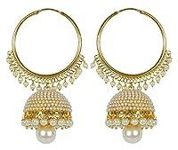 Meenaz Gold Plated Jhumki Earrings For Women