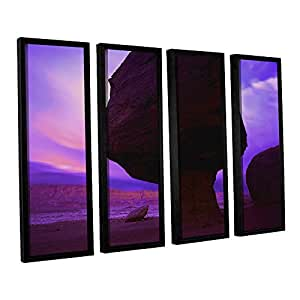 "ArtWall Dean Uhlinger 4 Piece Echo Cliffs Storm Light Floater Framed Canvas Set, 36 by 48"""