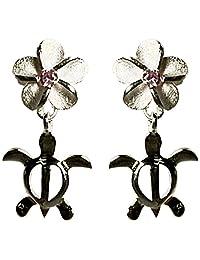 夏威夷珠宝 夏威夷直接进口 银925・粉红氧化锆・耳环