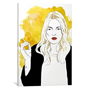 iCanvasART ICA1251 Kate Watercolor Color Pop by Darklord Canvas Print, 12-Inch by 8-Inch, 0.75-Inch Deep