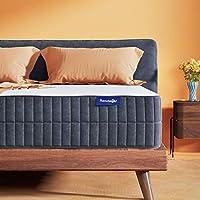 Sweetnight 中号双人床床垫 - 中号床垫,10 英寸(约 25.4 厘米)凝胶*泡沫床垫,用于缓解背部*/运动隔离和凉爽*,可翻转舒适,从柔软到中等紧致,晒吻