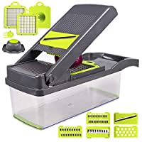 Onion Vegetable Chopper Slicer Halcyon Mandoline Slicer Cutter Chopper 适用于水果沙拉土豆胡萝卜大蒜和奶酪磨机