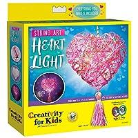 Creativity for Kids Fancy Fox 轻便工艺套件 - 制作 1 个发光狐狸 Mini String Art Heart Light