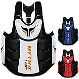 Mytra Fusion 胸部和腹部保护罩身体护甲身体护身垫身体保护胸部罗纹肚脐拳击MMA 泰拳健身锻炼