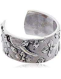 [cenote ] cenote 【银饰品】 日式花纹 般若银耳夹 15065600