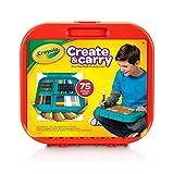 Crayola 绘儿乐 儿童艺术家礼盒 75件绘画套装 (内含2合1便携手提箱/绘画板 水彩笔,马克笔,蜡笔,彩色铅笔和彩纸)