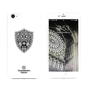 "Tomorrow Today 经典系列:""盾形""手机壳适用于 iPhone 8 和 iPhone 7 超奢华 Ubersoft 增强硅胶及超细纤维衬里 iPhone 8 and iPhone 7 白色"