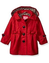 Pink Platinum 女婴羊毛夹克,带蝴蝶结细节