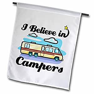 dooni Designs I believe IN Designs – I believe IN campers – 旗帜 12 x 18 inch Garden Flag