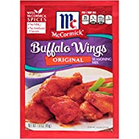 McCormick Original Buffalo Wing Seasoning Mix, 1.6 oz, Signature Blend of All-Natural Herbs and Spices Like Garlic, Chili Pepper and Paprika, Great for Chicken Wings or Tenders (Pack of 12)