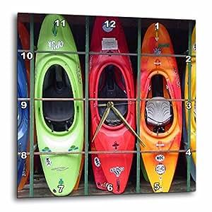 3dRose dpp_3164_2 Kayak Wall Clock, 13 by 13-Inch