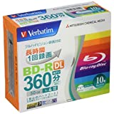 三菱化学 Media Verbatim 一次录像用 BD-R DL 10 片 VBR260YP10V1 (单面 2 层/1-4 倍速/10 片)