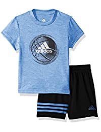 adidas Baby Boys Sleeve Tee and Short Set
