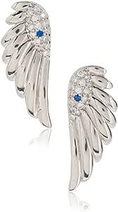 Peermont Jewelry CZ 邪眼翼纯银耳环