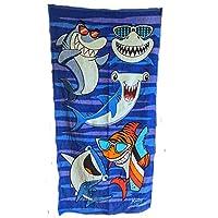 Royal Pacific 青年沙滩或浴巾,127.00 厘米长,63.5 厘米宽 Cool Shark Time