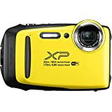 Fujifilm FinePix XP130 防水数码相机,带 16GB SD 卡600019828 底部 2.78x 4.34x 1.26 黄色
