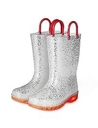 KomForme K 发光儿童雨靴闪光女童靴