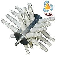 鸡 plucker 钻 attachment–poultry 羽毛 remover 21手指 (broiler Duck Duck Goose 土耳其) 带*鸡 plucker 手指 (白色)