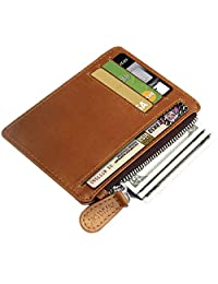 Arvok 卡夹钱包 RFID 屏蔽皮革超薄前置口袋男女通用