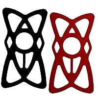 手机支架,适用于自行车和摩托车,Tackform [硬质设计] 自由自行车手机支架,[ 4 层*滑动件] 适合任何智能手机,可容纳 iPhone 7、7 Plus、SE、iPhone 6s、iPhone 6 Plus4326588891 黑色/红色
