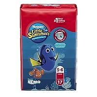 Huggies Little Swimmers 一次性泳裤,大号,每包 17 条(6 包装)
