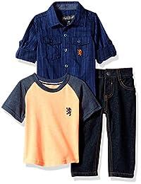 English Laundry 男婴长袖,T 恤和裤子套装(更多款式)