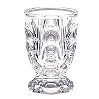 广田玻璃 玻璃杯 透明 230ml 复刻 昭和摩登 带底座 380N