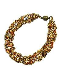 EvolveFISH DNA 青铜和金色串珠手链 - 24.13 cm 长