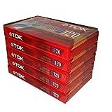TDK Superior Normal Bias D120 IEC I/Type I 适合日常录音音频盒带 - TDK 5 包