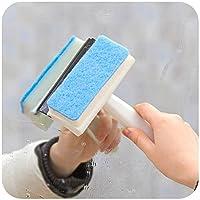 日本进口搽玻璃器 玻璃刮 瓷砖清洁 擦玻璃窗工具 玻璃窗刮水器 (蓝色)
