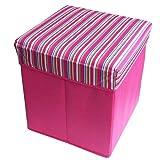 苏格兰格正方形储物凳 无纺布收纳凳 整理箱 一物二用 颜色随机
