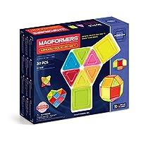 MAGFORMERS 麦格弗 儿童益智拼插积木搭建玩具磁力片 WINDOW SOLID 30 SET 实心中框30片套组