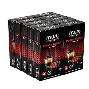 Must Espresso 普罗阿拉比卡咖啡胶囊 - Nespresso兼容,100粒