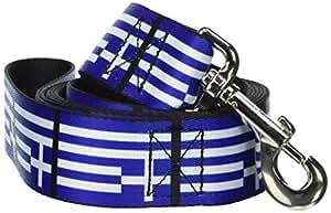 希腊希腊国旗 balkans sky-blue 白色趣味动物宠物狗猫皮带 五彩 6 FT Wide
