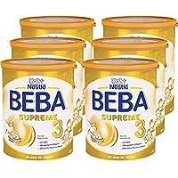 Nestlé BEBA雀巢贝巴 SUPREME 3段婴儿后续奶粉:适合10个月以上婴幼儿 即冲即饮 富含水解蛋白, 6罐装 (6 x 800g)(不含助溶剂,冲泡需用力摇,冲后有结晶非品质问题,请放心食用)