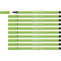Stabilo Pen 68 Fibre-Tip Pack of 10 Fluorescent Green