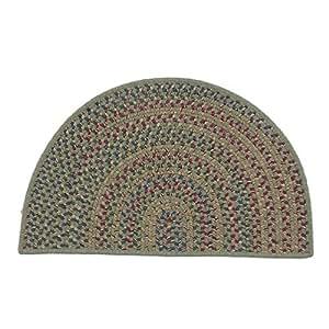 Colonial Mills 乡村风格厨房切片心形地毯,18 x 2'6,联邦蓝