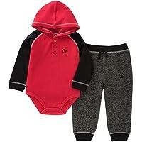 Calvin Klein 婴儿男孩2件连体衣长裤套装