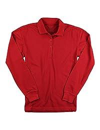 Edwards 女式长袖涤纶/棉布 Polo 衫