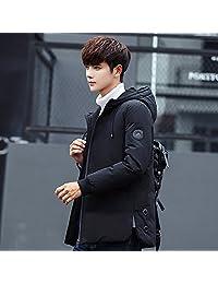 比狮诺 冬季男士连帽羽绒服新款韩版修身个性潮流潮牌加厚短款外套男