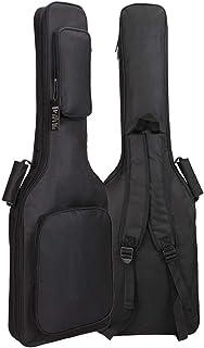 GLEAM 电吉他琴袋 - 0.76cm 厚海绵垫,带两个大口袋,防水