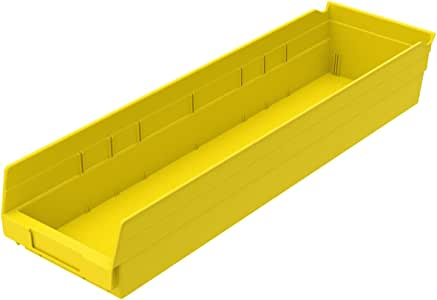 Akro-Mils 30164 60.96 x 15.24 x 10.16 厘米塑料嵌套架子箱,蓝色,6 只装 30164YELLO