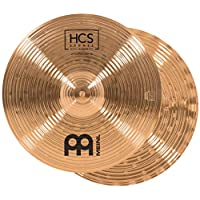 Meinl Cymbals 14 英寸回声波Hihat (高帽)对 – HCS 传统铜色鼓套装,德国制造,2 年保修(HCSB14SWH)