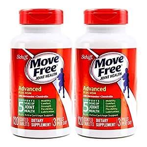 2瓶装 Schiff Move free旭福维骨力氨糖软骨素加MSM绿瓶运动版 2 * 120粒 (美国品牌)包税包邮
