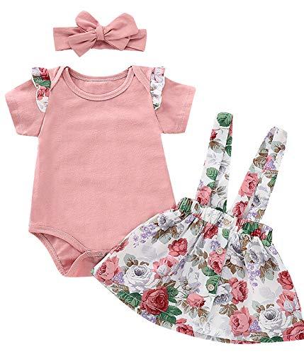 衣装セット赤ちゃんの女の子の花のタイツでスカート全体的なリードをフラウンス付きのバラ
